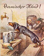 METAL MAGNET 1935 Advertisement Dachshund Beer German Alcohol Dog MAGNET