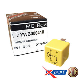 Genuine MG Rover 4 Pin Multi Use Yellow Relay TF MGF ZR ZS YWB000410