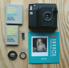 Lomo Instant Square Camera - Black Edition with Portrait Lens & Splitzer