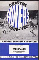 1969/70 BRISTOL ROVERS V BOURNEMOUTH 21-02-1970 Division 3