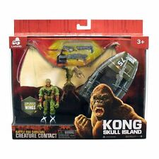 King Kong Skull Island Pterodactylus with Boat & Action Figure New Toy