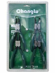4 PCS Changlu Professional Grade Circlip Plier Set 7 inch