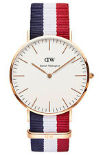 Daniel Wellington Cambridge Men's 40mm Multicolor Nylon Quartz Date Watch 0103dw