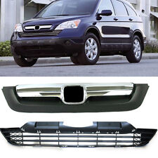 ABS+Chrome Front Bumper vents Grille For Honda CRV 2007-2009