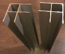 2x Winkeleinfaßprofil für Anhängerbordwände, eloxiert