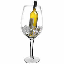20 Inch Giant Decorative Clear Hand Blown Wine Glass / Champagne Magnum Chiller
