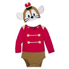 Disney Store Timothy Mouse Dumbo Fancy Dress Baby Costume Bodysuit 6-9 M BNWT