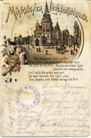 AK München, Löwenbräukeller, Oktoberfest-Stempel,  gel. am 31.10.1909