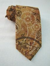 NEW STEAMPUNK Clock Gears Necktie NEW Hand Made in USA NWT Industrial Brown