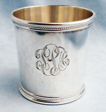 Vintage John F. Kennedy Solid Sterling Silver Presidential Mint Julep Cup w/MONO