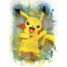 DIY 5D Diamond-Painting Art Craft Happy Pikachu Cross-Stitch Kit Leisure