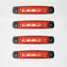 NUEVO 4x 12v Rojo LED Lateral Luz de señalización Lámpara Para