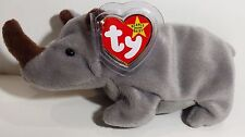 "TY Beanie Babies ""SPIKE"" the RHINOCEROS - MWMT! RETIRED! A MUST HAVE! GREAT GIFT"