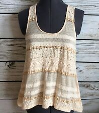 Pins and Needles Urban Outfitters Shirt Top Tank Size S Lace Swing Festival Boho