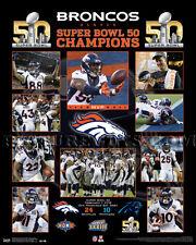 Denver Broncos Super Bowl 50  Championship Picture Plaque