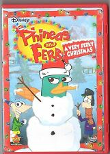 Disney Phineas and Ferb A Very Perry Christmas (DVD, 2010) LN With Iron On decal
