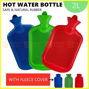 2L Hot Water Bottle With Cover Winter Warm Rubber Bag Relaxing Warmer Comfort