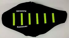 New NEON YELLOW KAWASAKI Ribbed Seat cover TALL KX65 KLX110 2000-2016