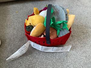 IKEA DUKTIG Children's Soft Pretend Toy Food  & Basket