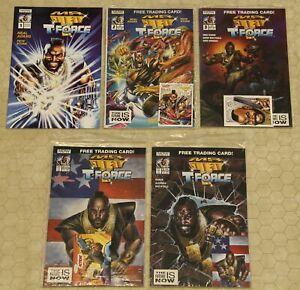 MR T And The T-FORCE Set #1 - 5 NM (1993) (Now Comics) !!