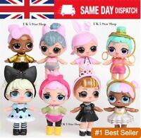 8PCS SURPRISE DOLL Blind Mystery Figure Cake Topper Toy like LOL + Accessories