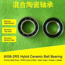 6006 Hybrid Ceramic Bearing 30x55x13mm ABEC-1 (1 PC) 6006RS Si3N4 Ball Bearings