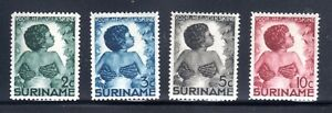 1933 SURINAME GREEN CROSS SEMI-POST SET OF 4 MINT HINGED