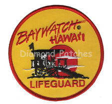 Baywatch Lifeguard Logo yellow Crest Iron On or Sew On Fancy Dress Patch Badge
