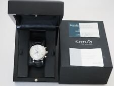 Sothis Men's watch white face chronograph classico