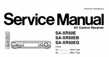 NATIONAL SA-XR50E SA-XR50EB SA-XR50EG AV CONTROL RECEIVER SERVICE MANUAL BOOK