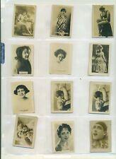 1926-27 Aguilitas Cigarros Cuba Cuban Girls 13 different VG+