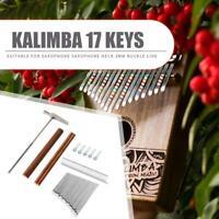 Chansted Thumb Piano, 17 Tasten Kalimba DIY Keys + Bridge + Stimmhammer Kit