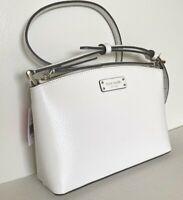 New Kate Spade New York Jeanne Crossbody handbag Leather Optic White