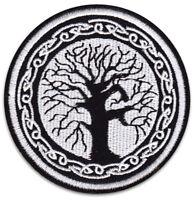 Yggdrasil Baum des Lebens Weltenbaum Wikinger Bügelbild Aufnäher Patch Aufbügler