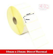 More details for 24,000 direct thermal labels - 50mm x 25mm - zebra lp2844 label printer
