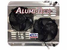 63-66 CHEVY PICKUP ALUMI-TECH ALUMINUM RADIATOR W/ COOLER FOR LS ENGINE SWAP
