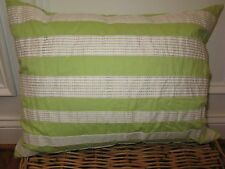 DKNY CONFETTI Embroidered Stripe Green Deco Pillow