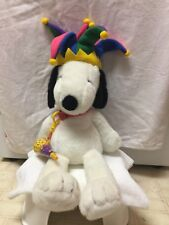Snoopy Plush with Jester Hat And Birthday Horn