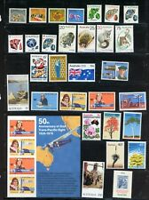 AUSTRALIA--Lot of 78 different stamps from 1970's