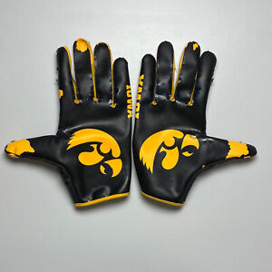 Iowa Hawkeyes Game Issued Nike Vapor Jets Football Gloves - Size 2XL