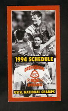 Greensboro Dynamo--1994 Pocket Schedule--Adidas--USISL