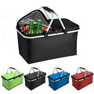 30L Extra Large Cooling Cooler Cool Box Picnic Camping Food Ice Drink Lunch Bag