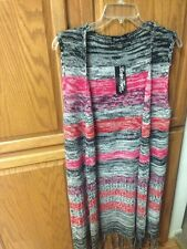 """Authentic"""" Evelyn Taylor Sweaters """" Women's Sleeveless Multi-Color Long Sweater"""
