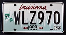 LOUISIANA WILDLIFE PELICAN 200 YEARS BICENTENNIAL 2014 LA Graphic License Plate
