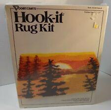 New listing Latch Hook Sunset Hook It Rug Kit Vintage ( Vogart Crafts #4340 ) - New