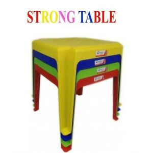 Indoor Outdoor Childrens Plastic Table Available In 4 Assorted Colour