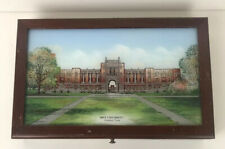 Rice University Eglomise Designs Wood Box Mirror Reverse Glass Painting College