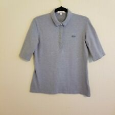 LACOSTE Blue Classic Half Sleeve Slim Fit Stretch Pique Polo Shirt Sz 42