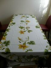 WILLIAMS SONOMA BOTANICAL PUMPKINS AND GOURDS TABLECLOTH 70 X 120  THANKSGIVING