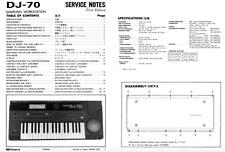 ROLAND DJ-70, DJ-70 MKII Schematic Diagram Service Manual Schaltplan Techniques